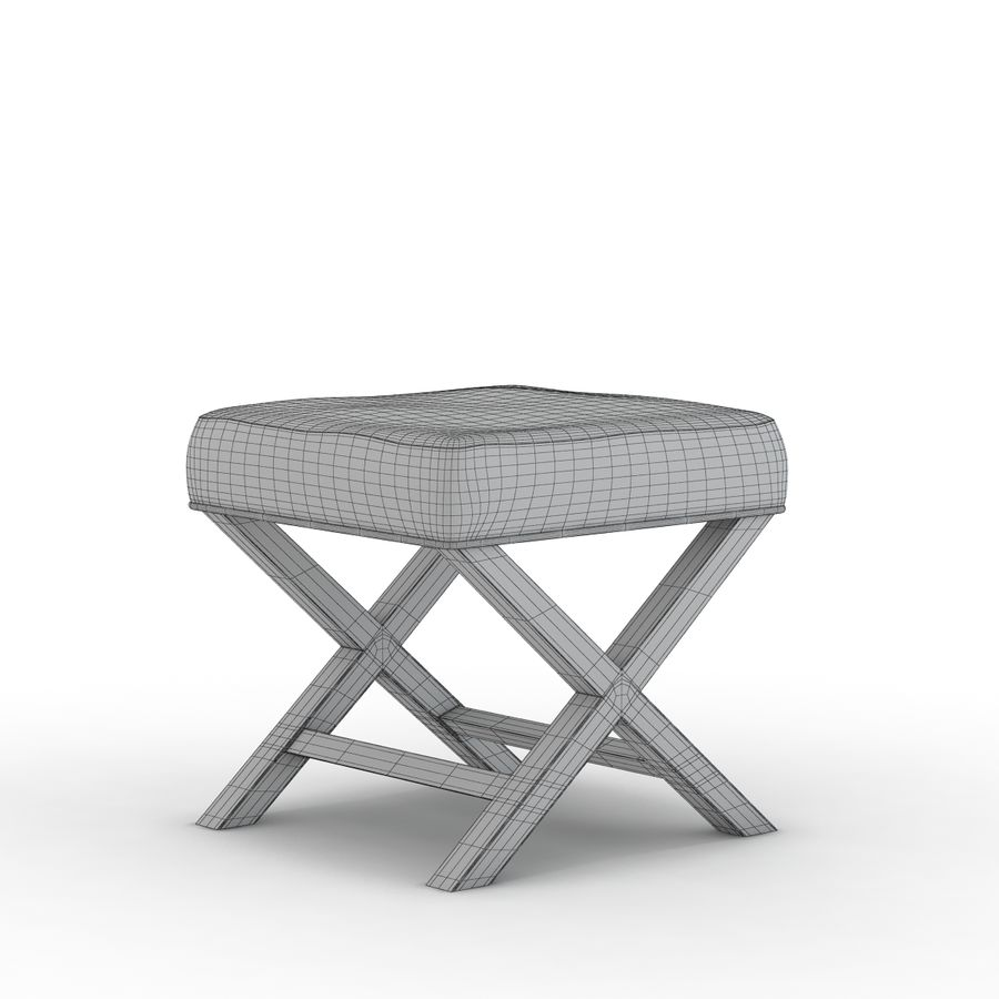 Crate And Barrel X Base Bench Vanity Stool 3d Model 19