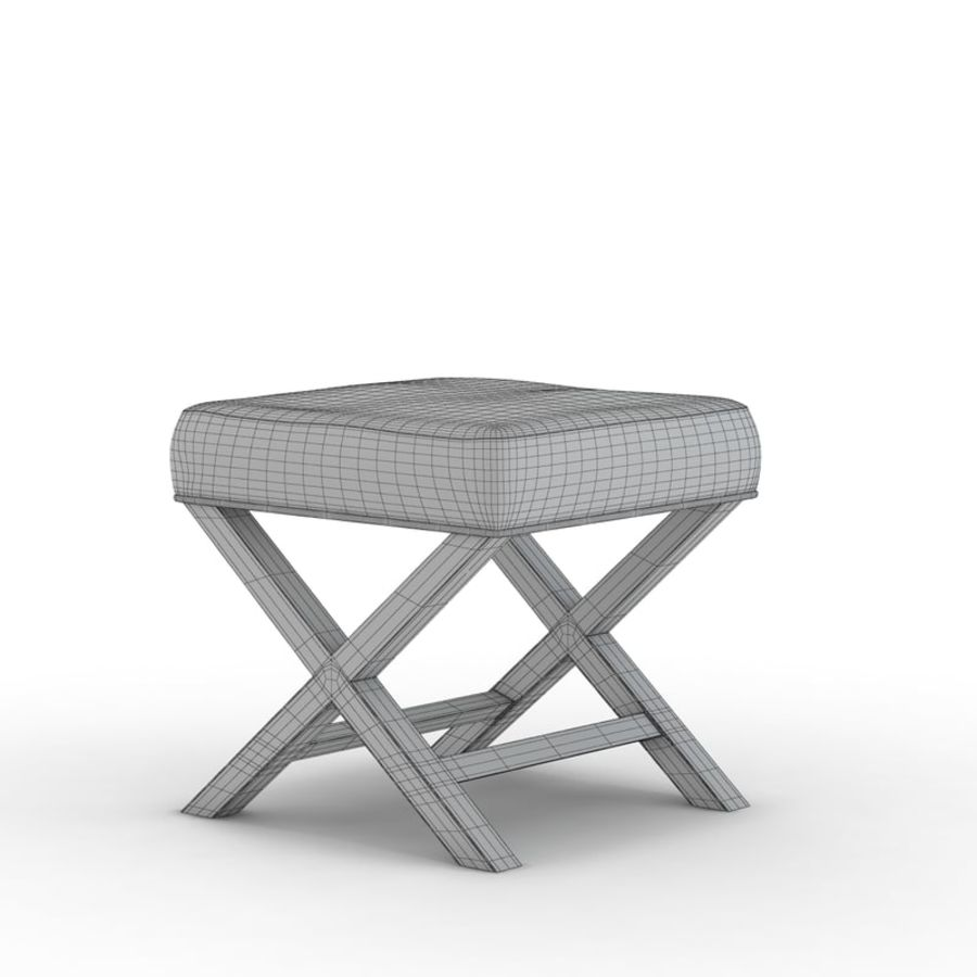 Stupendous Crate And Barrel X Base Bench Vanity Stool 3D Model 19 Dailytribune Chair Design For Home Dailytribuneorg