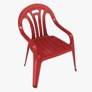 Plastic Moulded Chair 3d model