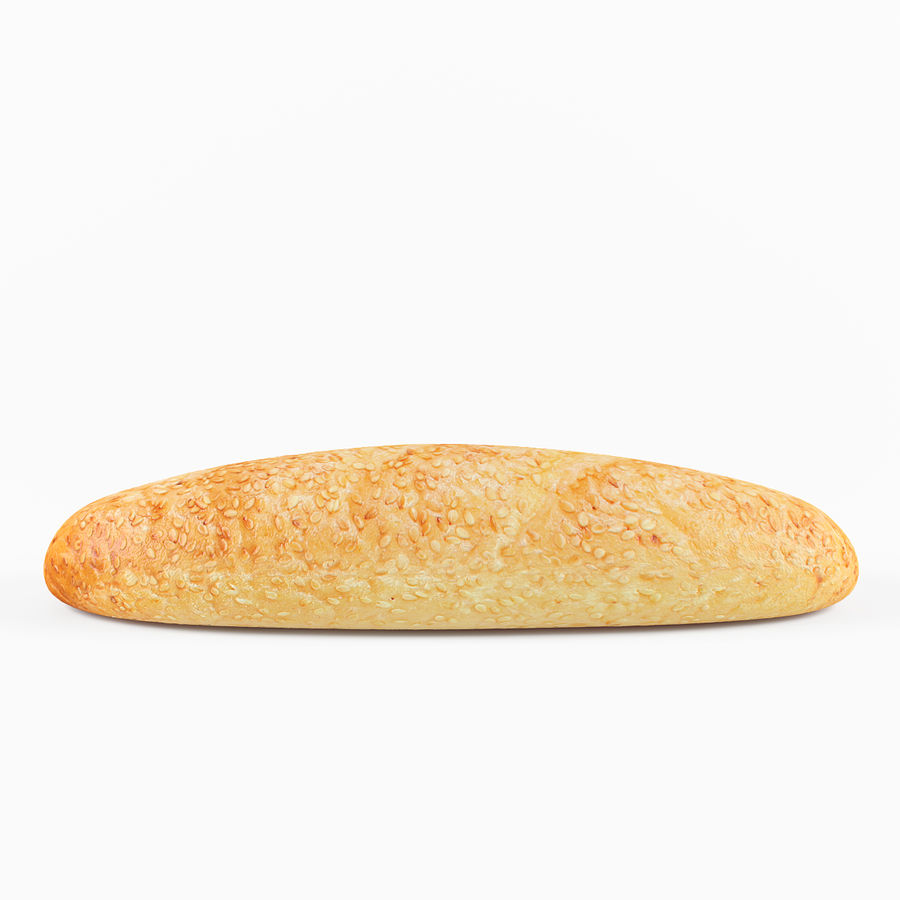 Long Bread 3 royalty-free 3d model - Preview no. 3