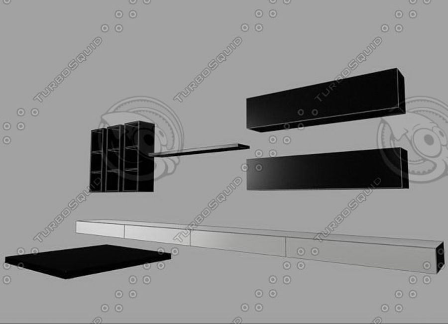 Living furnitures 09 royalty-free 3d model - Preview no. 5