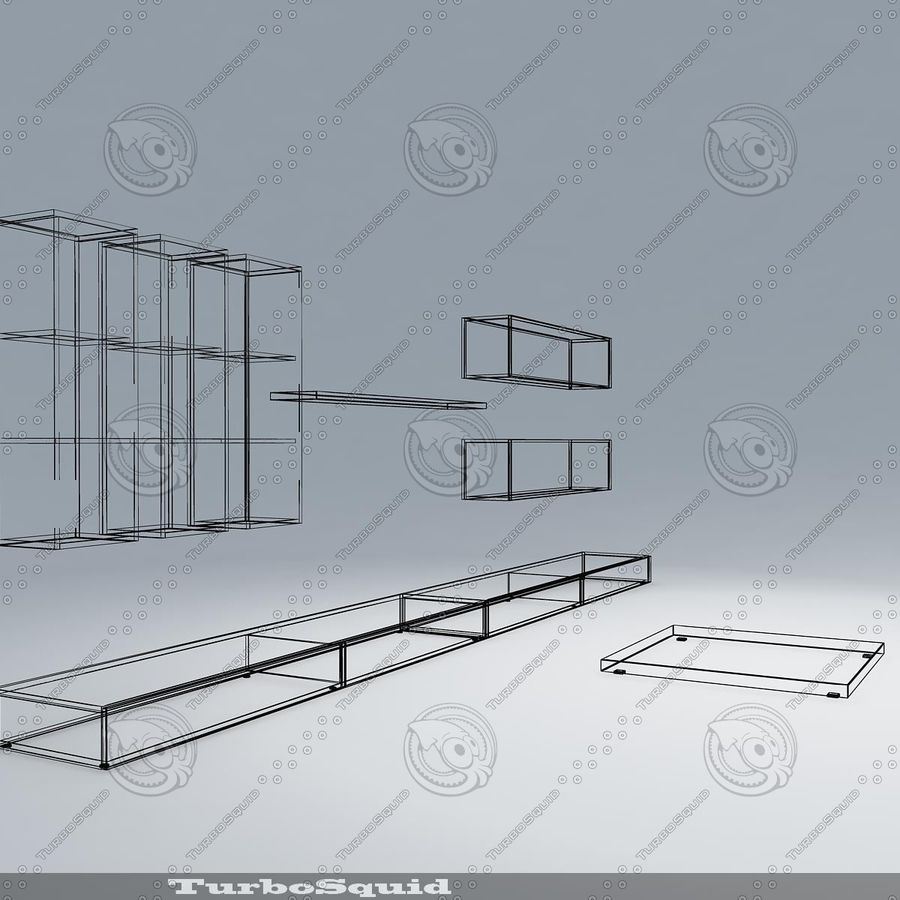 Living furnitures 09 royalty-free 3d model - Preview no. 13