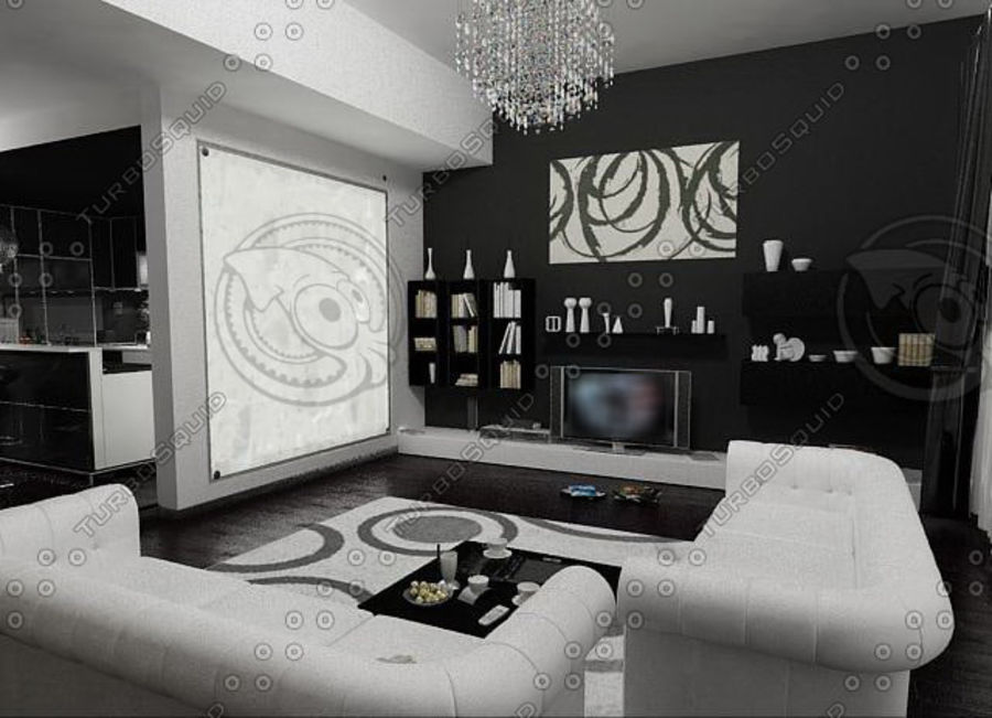 Living furnitures 09 royalty-free 3d model - Preview no. 1