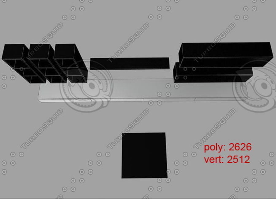 Living furnitures 09 royalty-free 3d model - Preview no. 7
