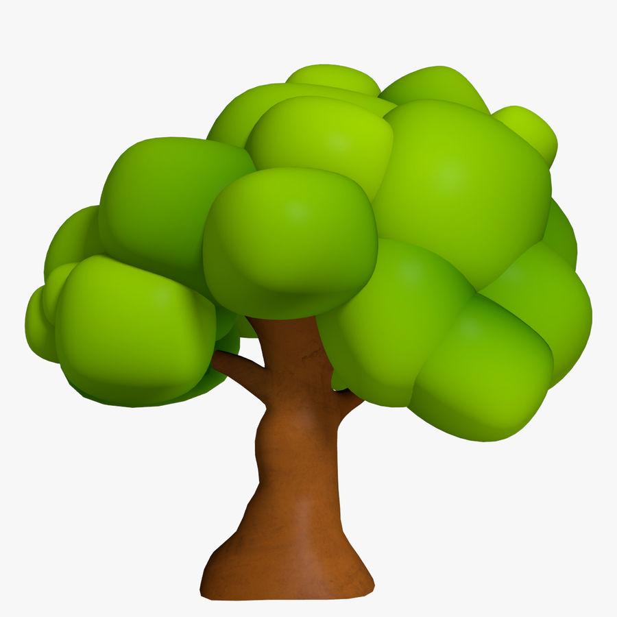 Drzewo Cartoon royalty-free 3d model - Preview no. 1
