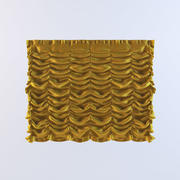 French Curtain 02 3d model