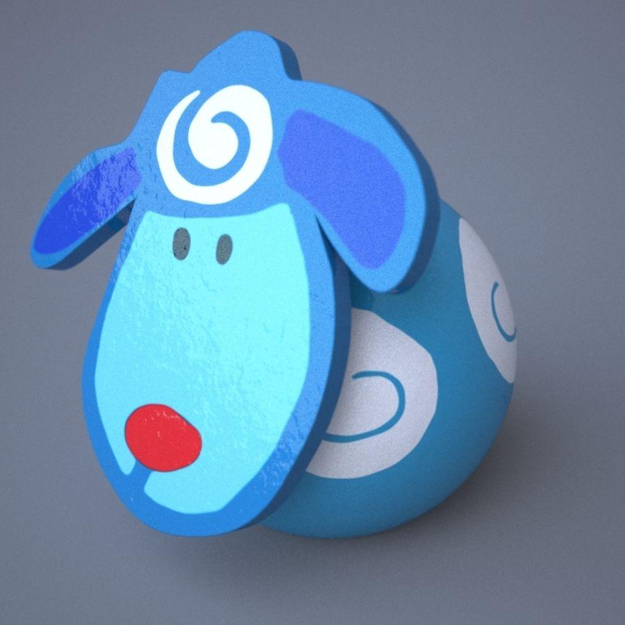面白い動物 royalty-free 3d model - Preview no. 4