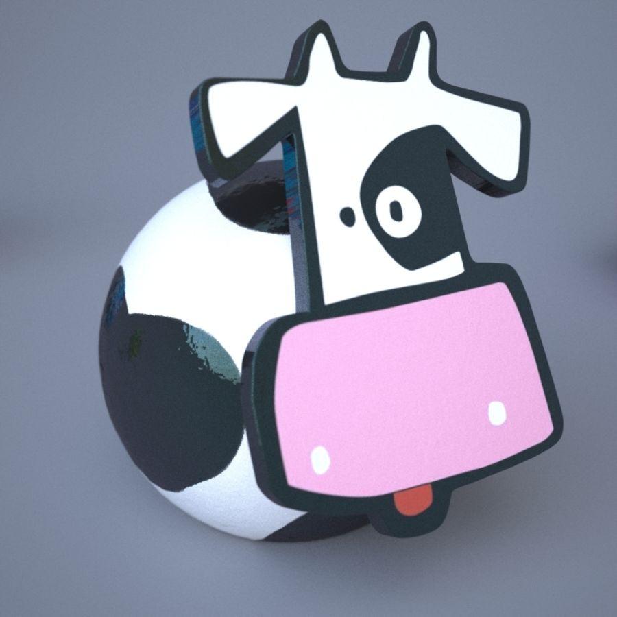 面白い動物 royalty-free 3d model - Preview no. 3