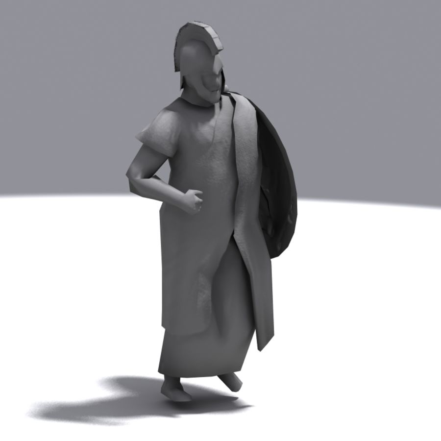 Greek Emissary royalty-free 3d model - Preview no. 5