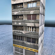 Lowpoly Building 345 3d model