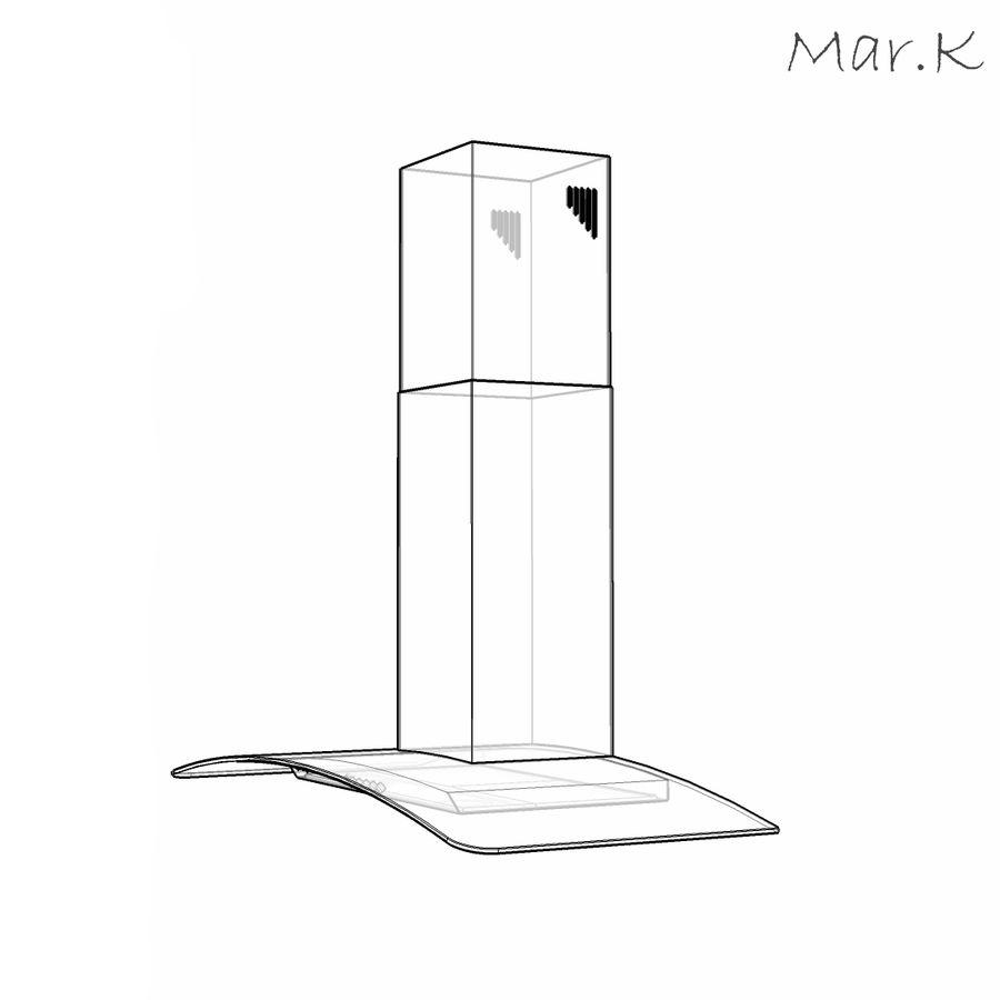 Kitchen hood Gorenje DKG9335 royalty-free 3d model - Preview no. 5