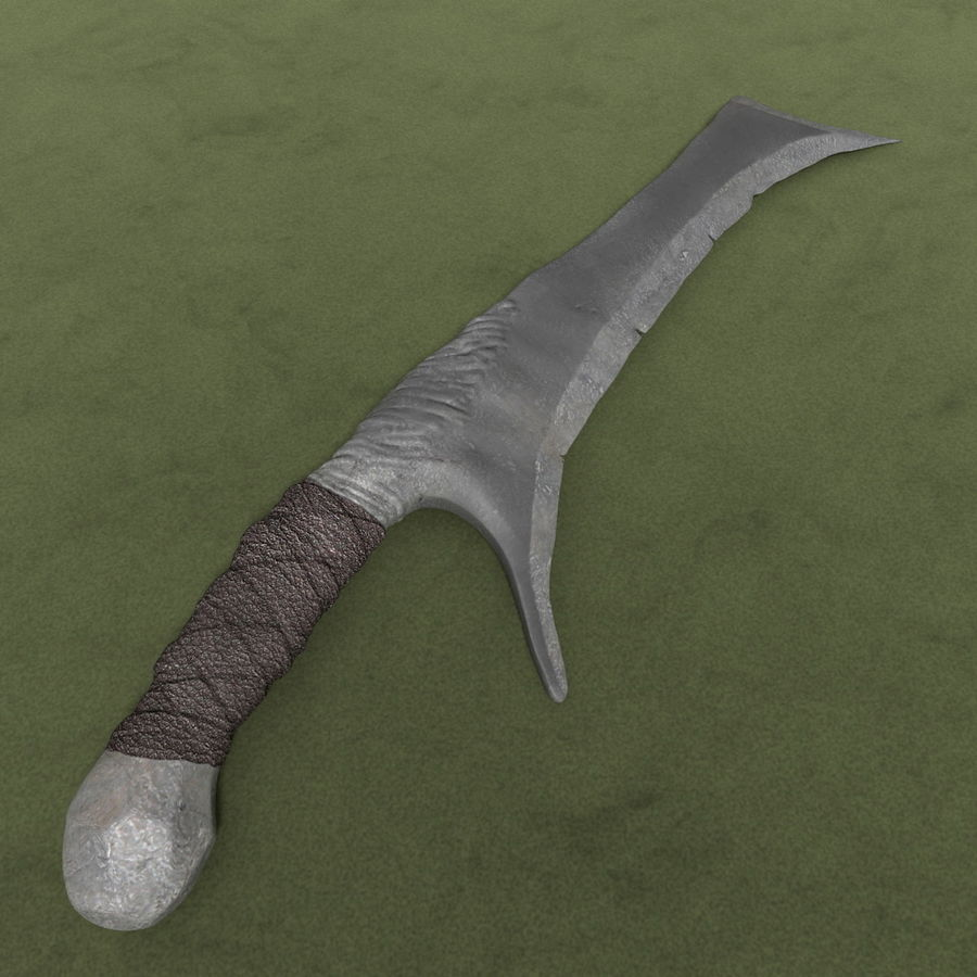 Barbaric Hacking Orc Sword royalty-free 3d model - Preview no. 1