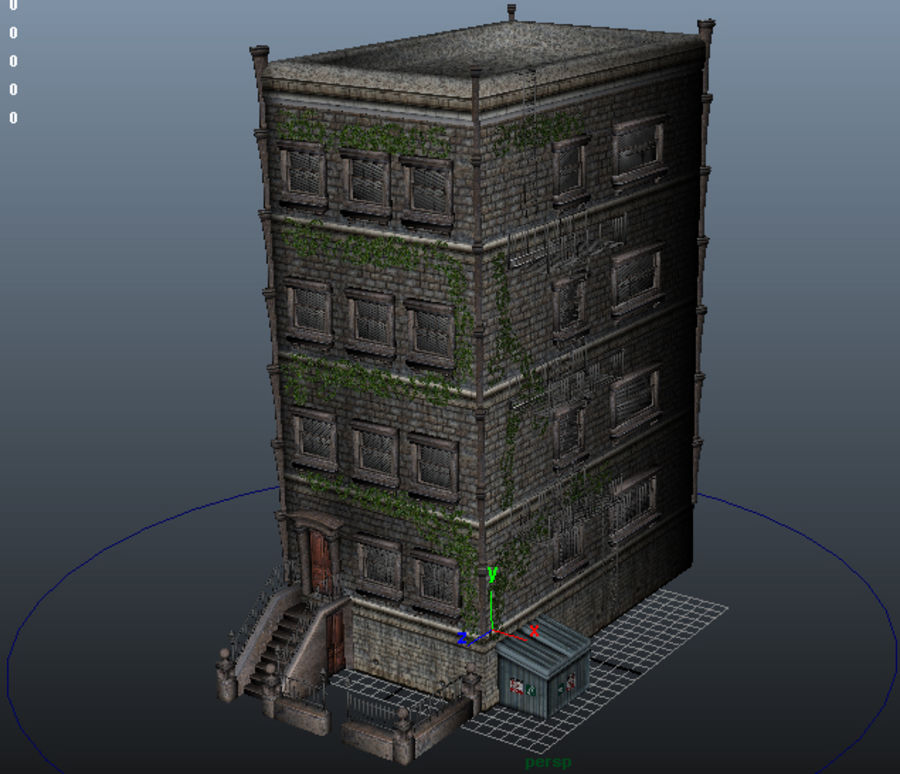 Brownstone - nyc royalty-free 3d model - Preview no. 8
