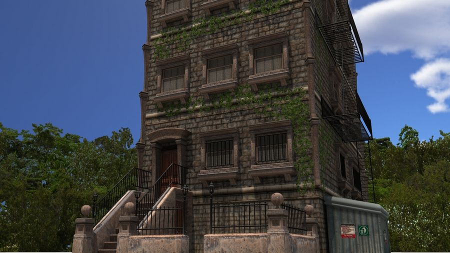 Brownstone - nyc royalty-free 3d model - Preview no. 2