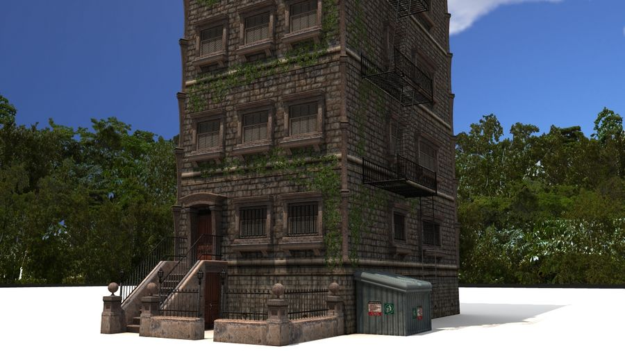 Brownstone - nyc royalty-free 3d model - Preview no. 3