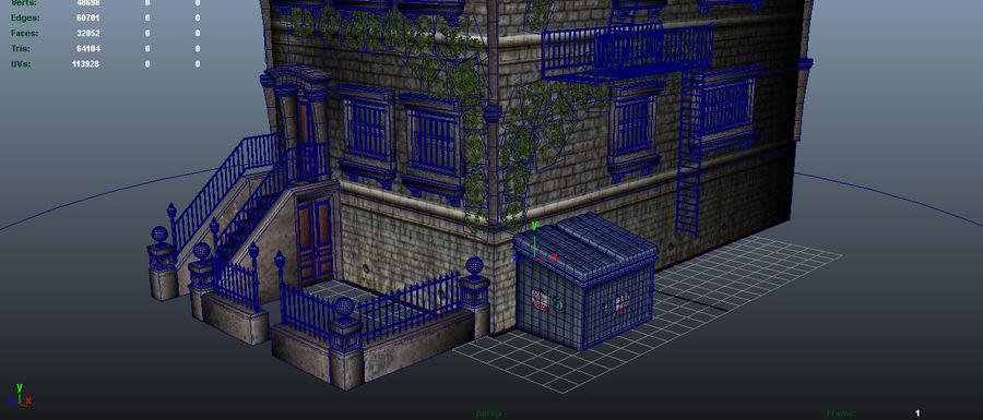 Brownstone - nyc royalty-free 3d model - Preview no. 7