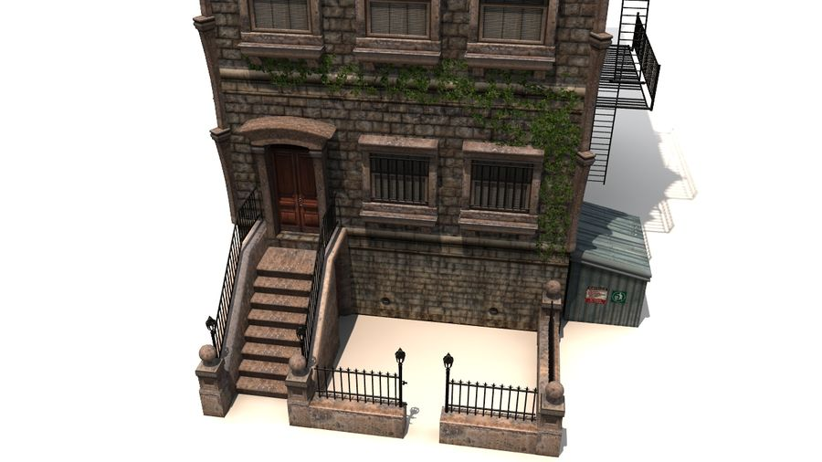 Brownstone - nyc royalty-free 3d model - Preview no. 5