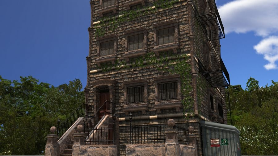Brownstone - nyc royalty-free 3d model - Preview no. 1