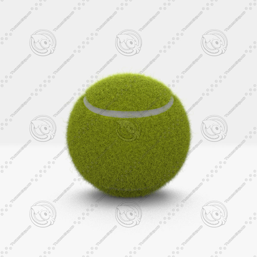 Tennis Ball royalty-free 3d model - Preview no. 4