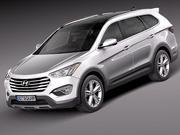 Hyundai Santa Fe 2013 3d model