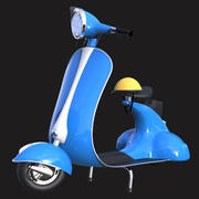 Cartoony Vintage Scooter 3d model