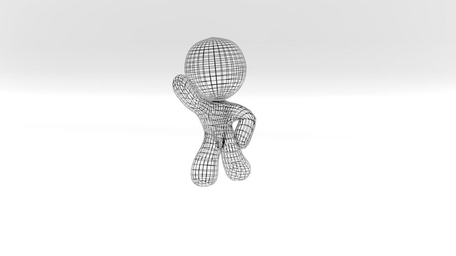 stripfiguur royalty-free 3d model - Preview no. 2
