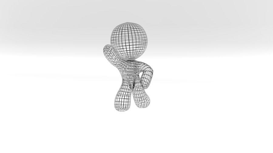 personnage de dessin animé royalty-free 3d model - Preview no. 2