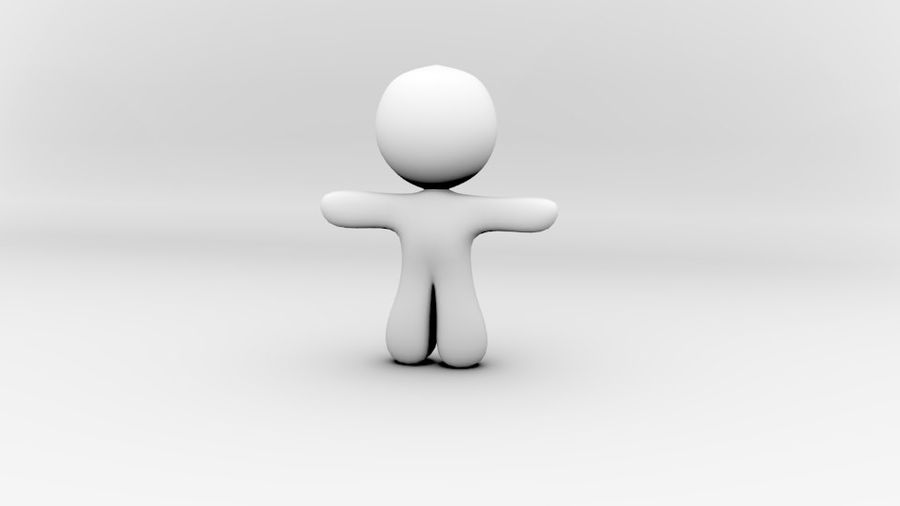 stripfiguur royalty-free 3d model - Preview no. 4