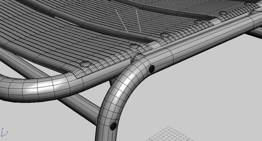 알루미늄 의자 royalty-free 3d model - Preview no. 6
