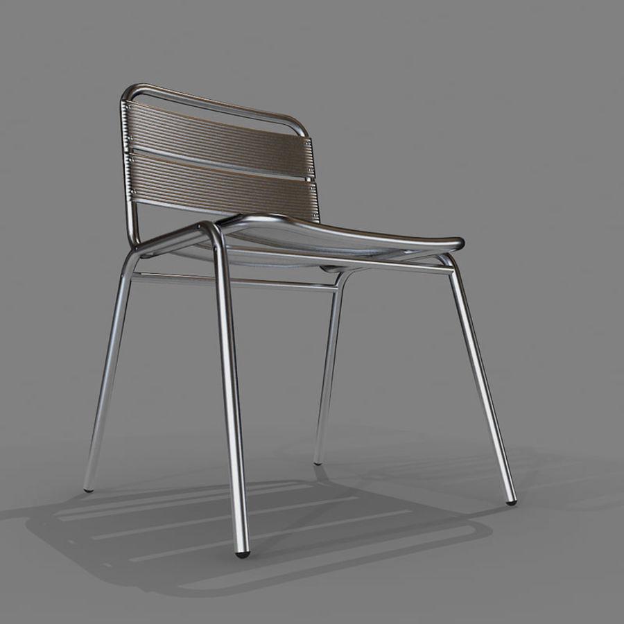 알루미늄 의자 royalty-free 3d model - Preview no. 2