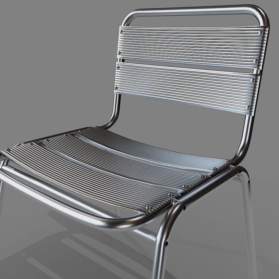 알루미늄 의자 royalty-free 3d model - Preview no. 1
