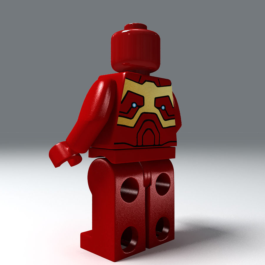 iron man lego royalty-free 3d model - Preview no. 6