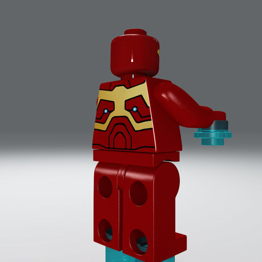 iron man lego royalty-free 3d model - Preview no. 7