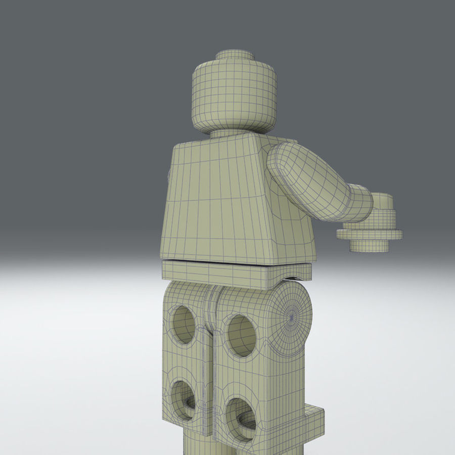 iron man lego royalty-free 3d model - Preview no. 8