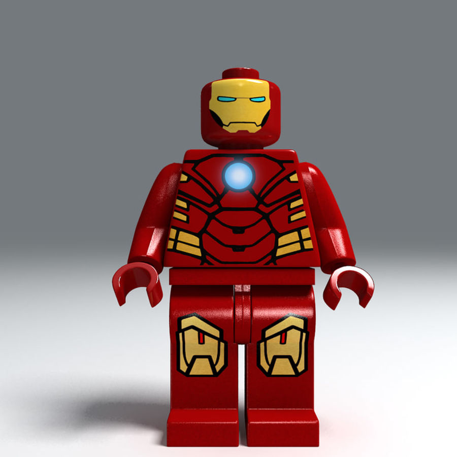 iron man lego royalty-free 3d model - Preview no. 4