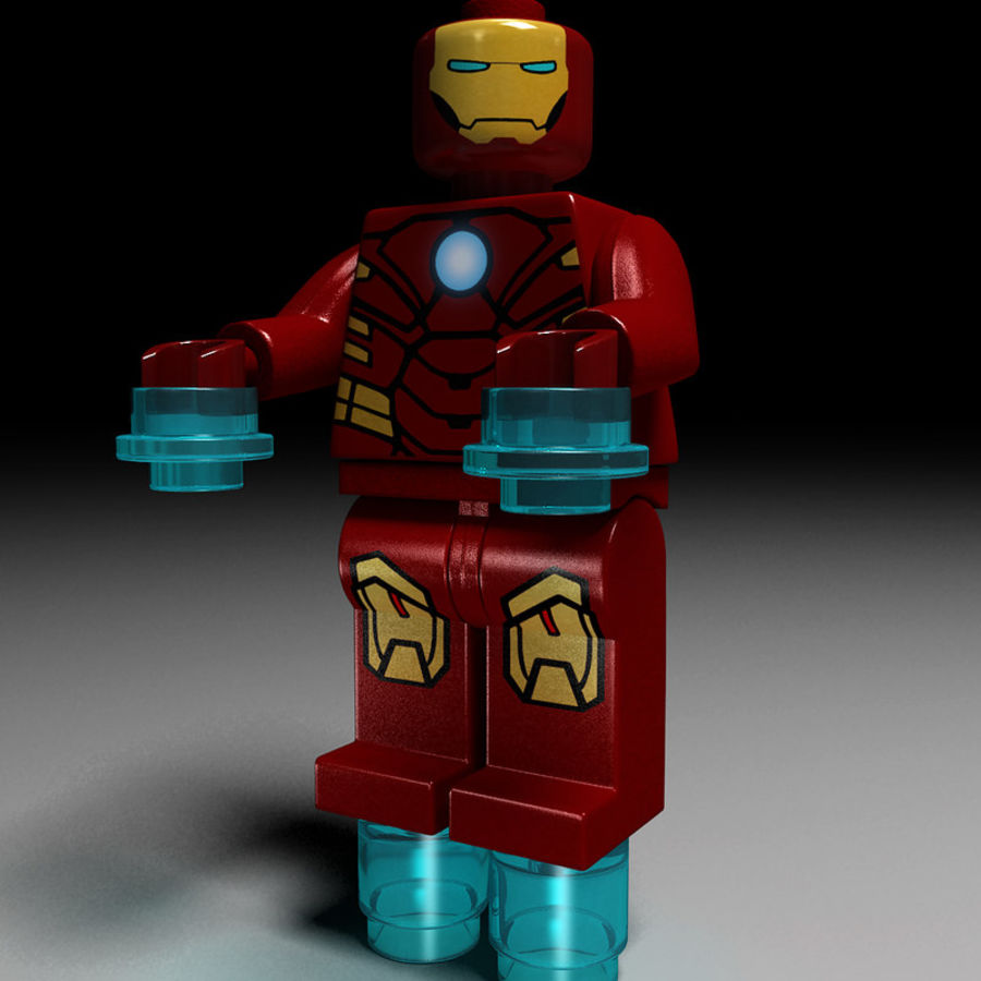 iron man lego royalty-free 3d model - Preview no. 2
