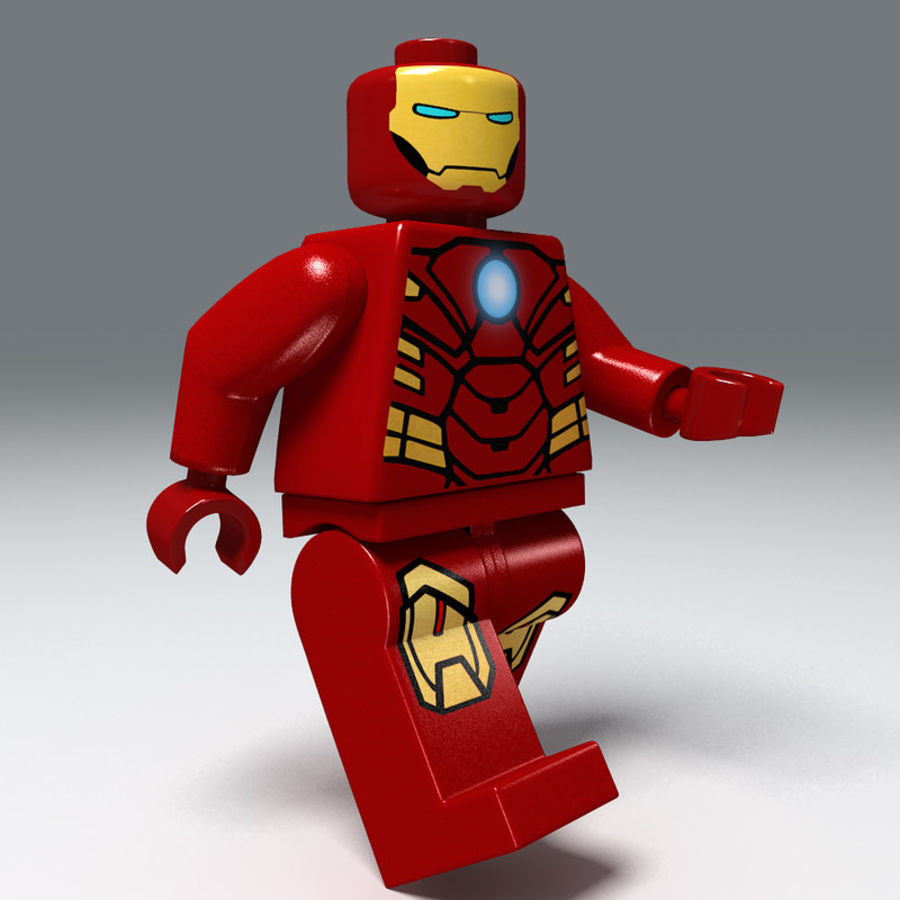 iron man lego royalty-free 3d model - Preview no. 5