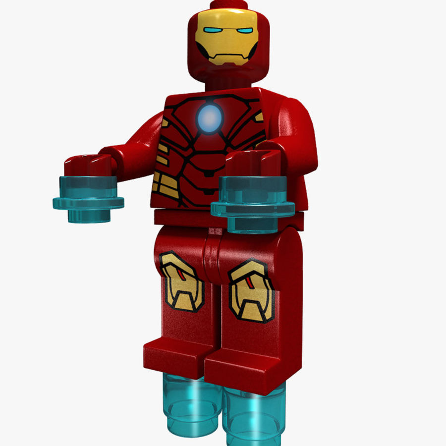 iron man lego royalty-free 3d model - Preview no. 1