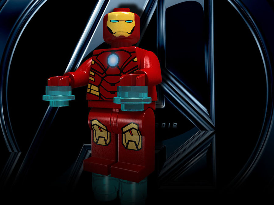 iron man lego royalty-free 3d model - Preview no. 13
