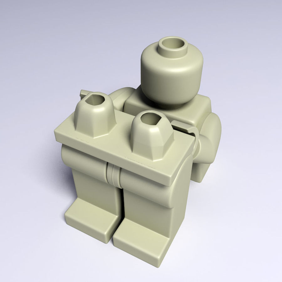 iron man lego royalty-free 3d model - Preview no. 9