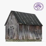 Wooden barn C 3d model
