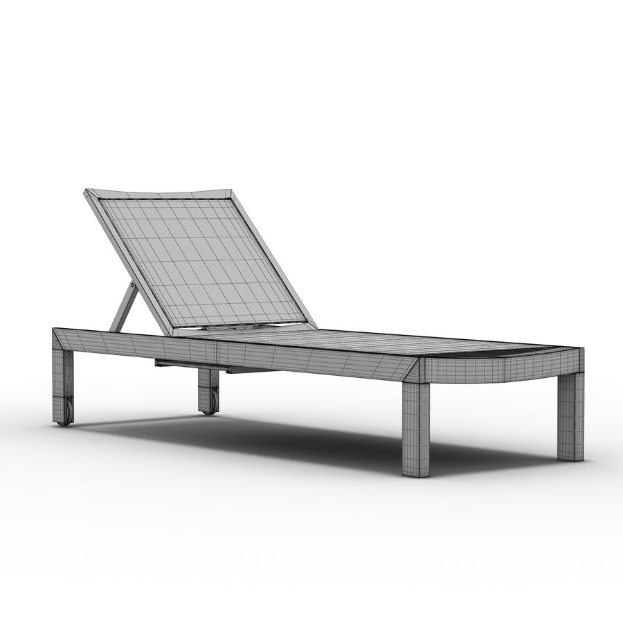 Crate and Barrel - Regatta Mesh Chaise Lounge royalty-free 3d model - Preview no. 9