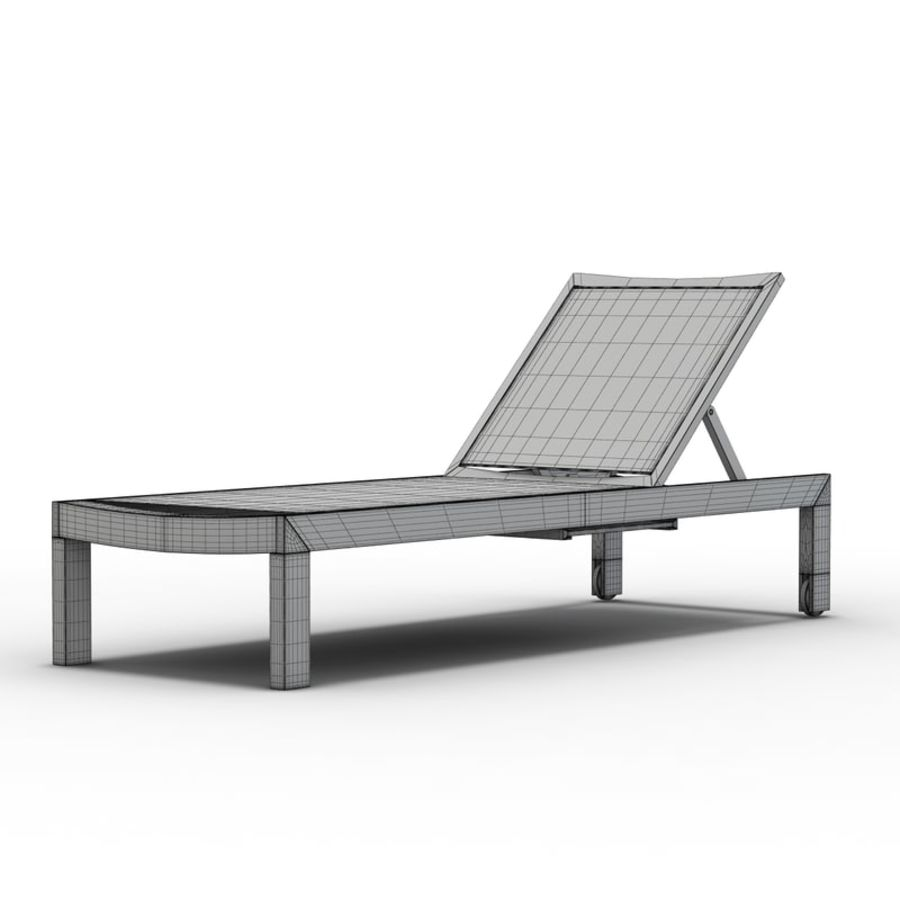 Crate and Barrel - Regatta Mesh Chaise Lounge royalty-free 3d model - Preview no. 7