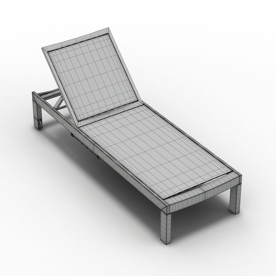 Crate and Barrel - Regatta Mesh Chaise Lounge royalty-free 3d model - Preview no. 12