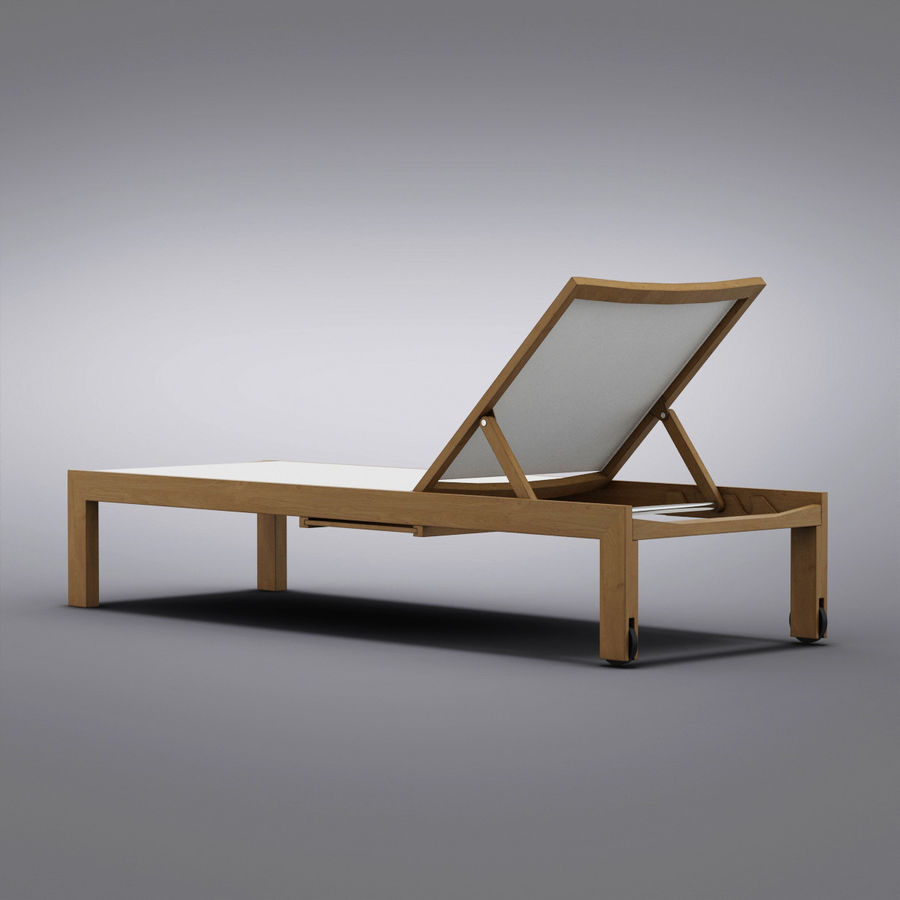 Crate and Barrel - Regatta Mesh Chaise Lounge royalty-free 3d model - Preview no. 5