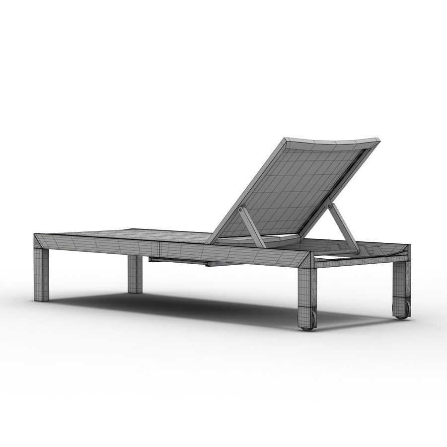 Crate and Barrel - Regatta Mesh Chaise Lounge royalty-free 3d model - Preview no. 11