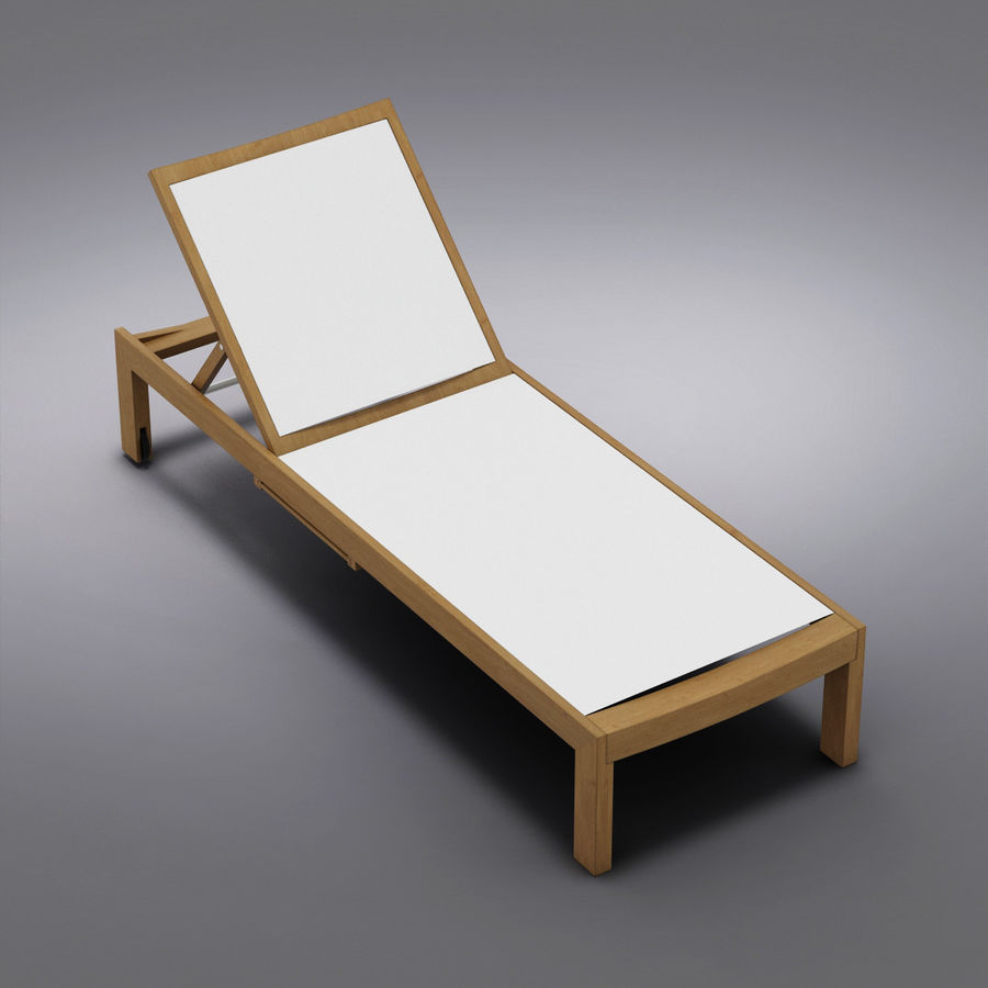 Crate and Barrel - Regatta Mesh Chaise Lounge royalty-free 3d model - Preview no. 6