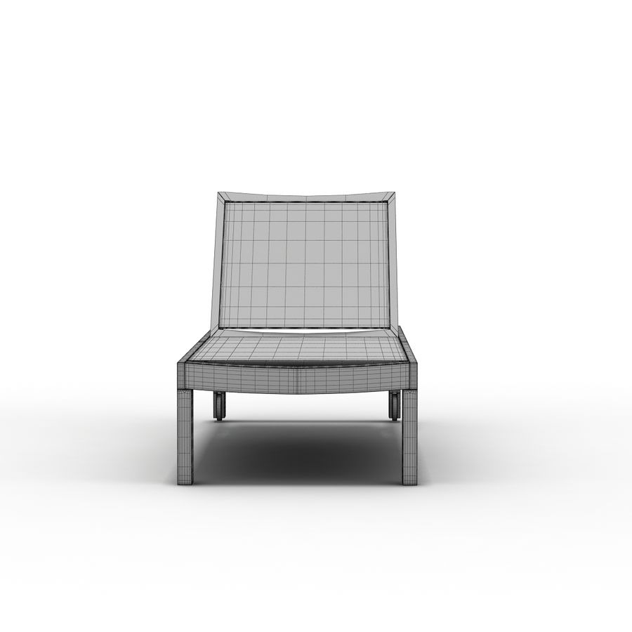 Crate and Barrel - Regatta Mesh Chaise Lounge royalty-free 3d model - Preview no. 8