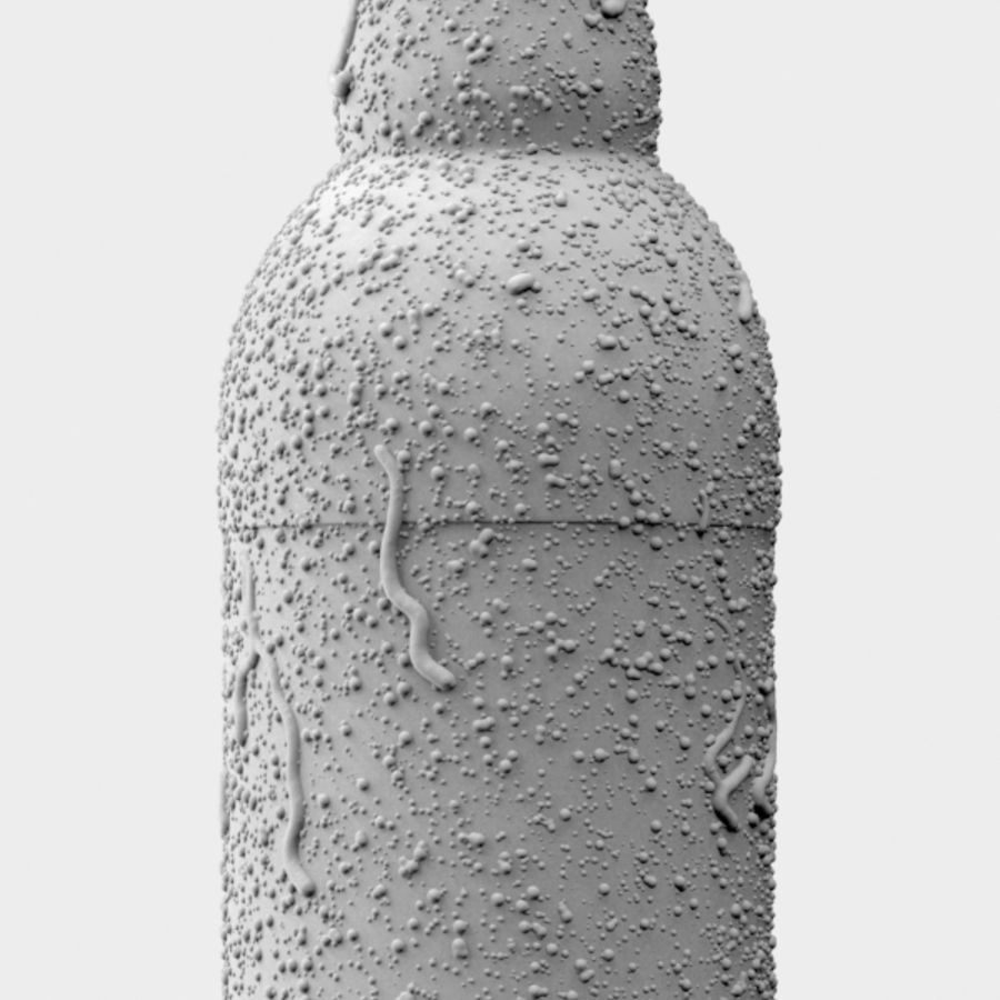 Brown Plastic Bottle - Cold Drink royalty-free 3d model - Preview no. 7
