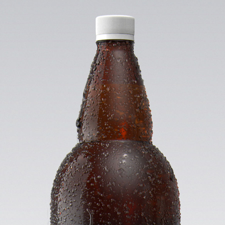 Brown Plastic Bottle - Cold Drink royalty-free 3d model - Preview no. 5
